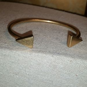 Madewell Gold Plated Double Triangle Cuff Bracelet